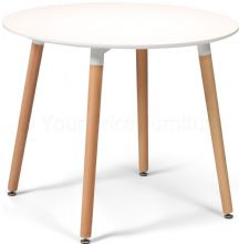 Toulouse White Designer Dining Table Small Round 90cms